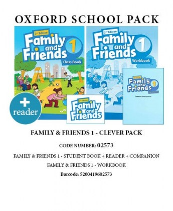 5200419602573-family-friends-1-clever-pack-includes-student-s-book-reader-companion-and-workbook-2nd-edition-02573