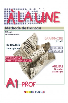 9789609526784-a-la-une-a1-methode-de-francais-professeur-cd-mp3-dvd